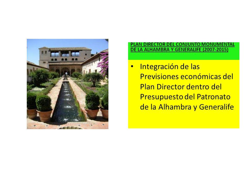 PLAN DIRECTOR DEL CONJUNTO MONUMENTAL DE LA ALHAMBRA Y GENERALIFE (2007-2015)