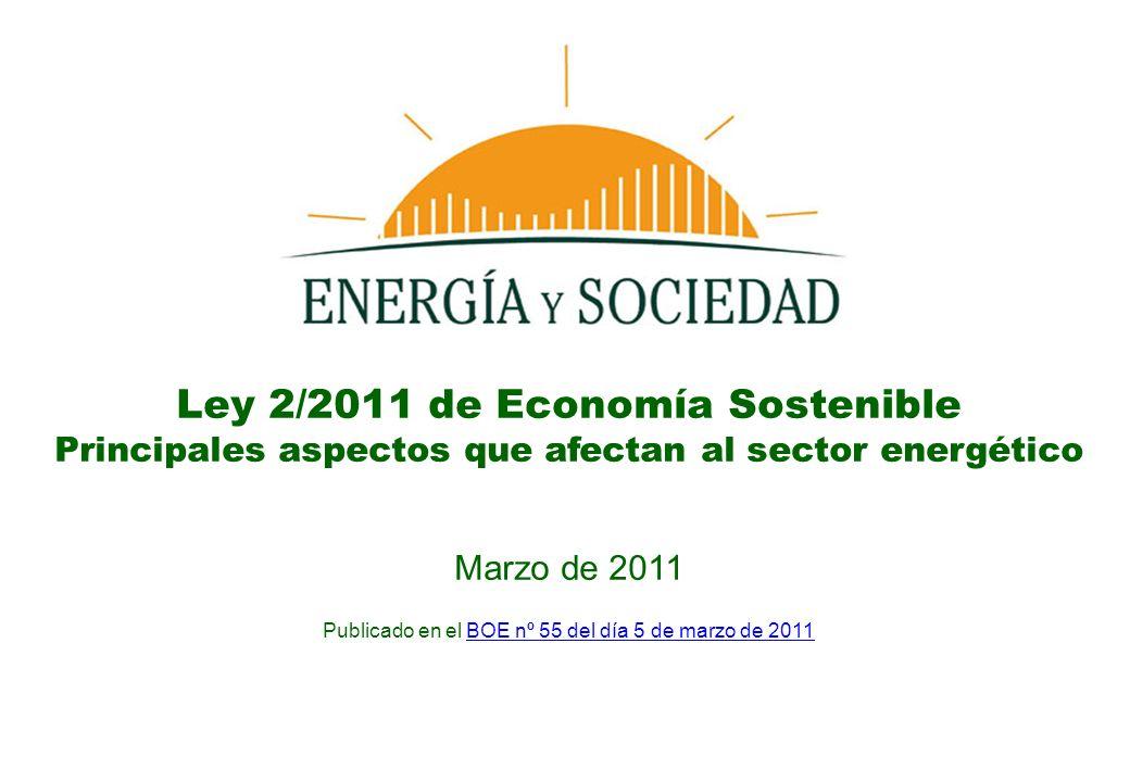 Ley 2/2011 de Economía Sostenible
