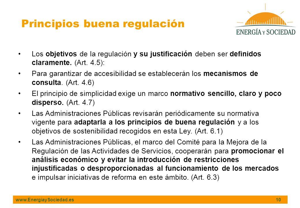 Principios buena regulación