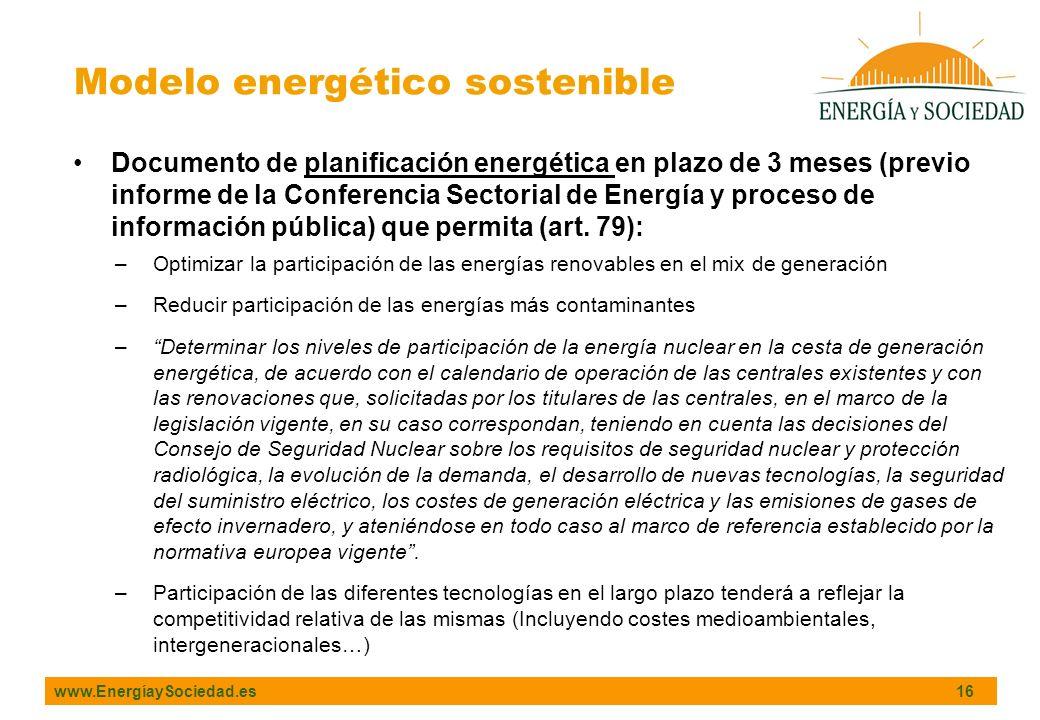 Modelo energético sostenible