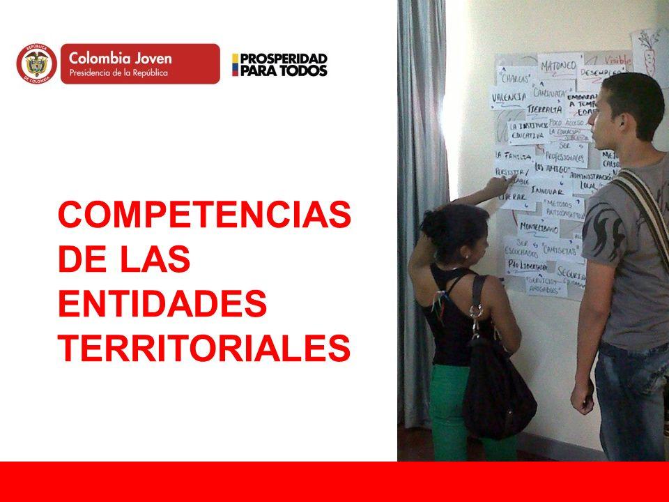 COMPETENCIAS de las entidades territoriales