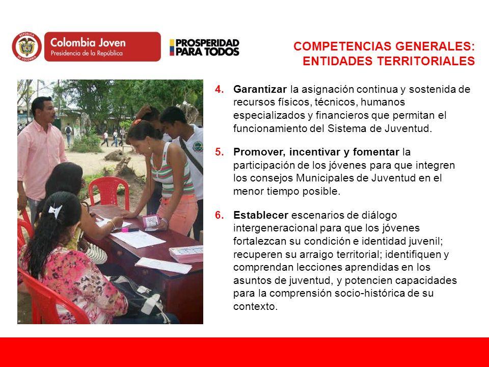 COMPETENCIAS GENERALES: ENTIDADES TERRITORIALES