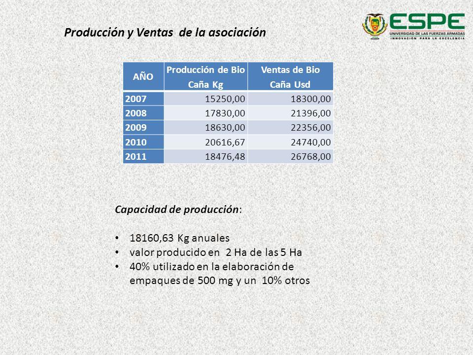 Producción de Bio Caña Kg