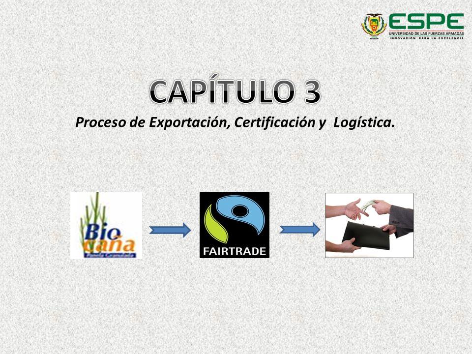 Proceso de Exportación, Certificación y Logística.