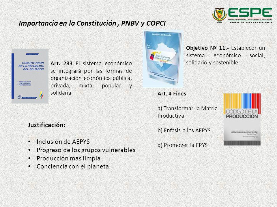 Importancia en la Constitución , PNBV y COPCI