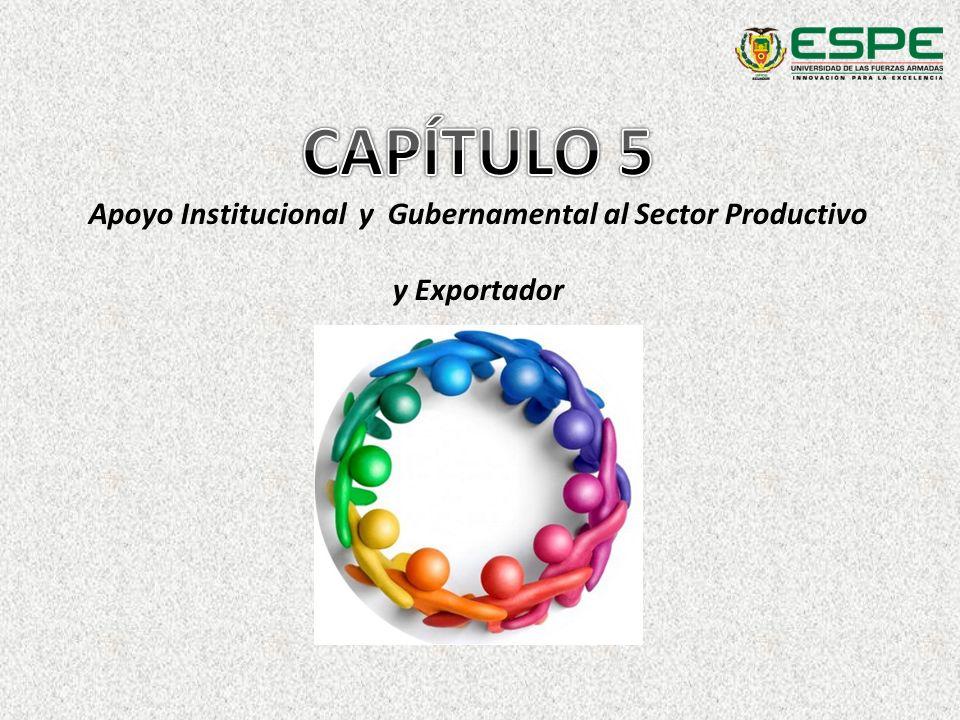 Apoyo Institucional y Gubernamental al Sector Productivo y Exportador