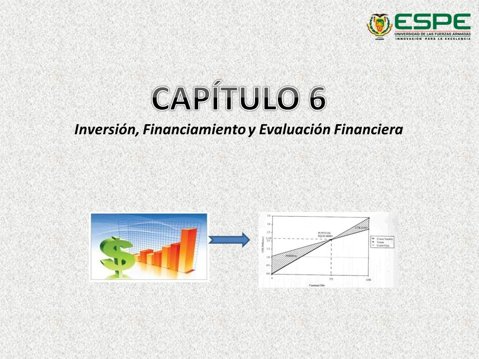 Inversión, Financiamiento y Evaluación Financiera