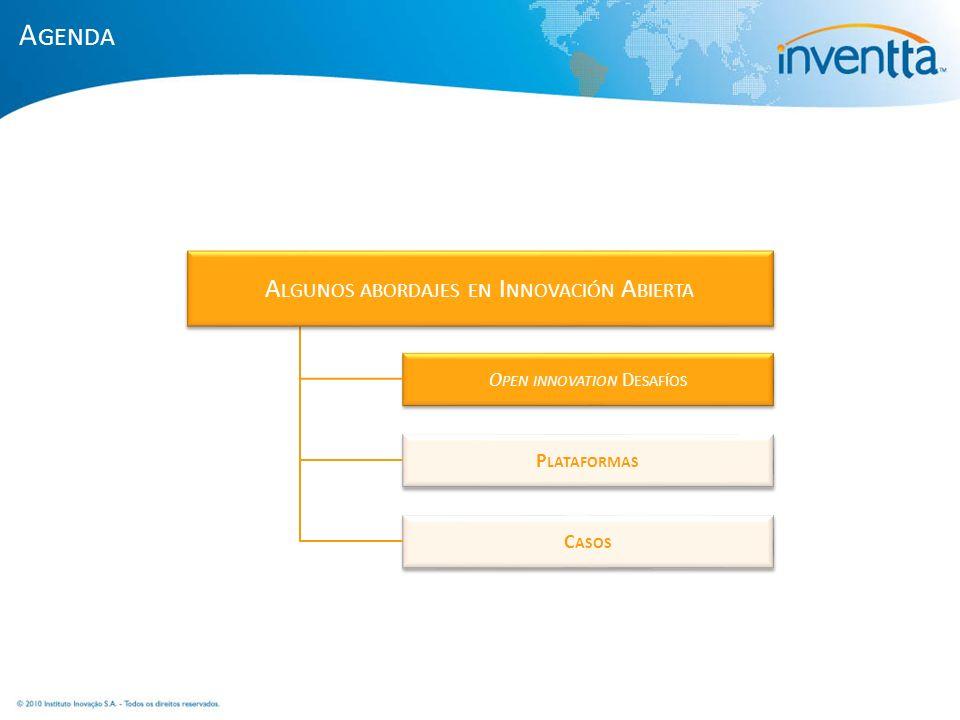 Agenda Algunos abordajes en Innovación Abierta