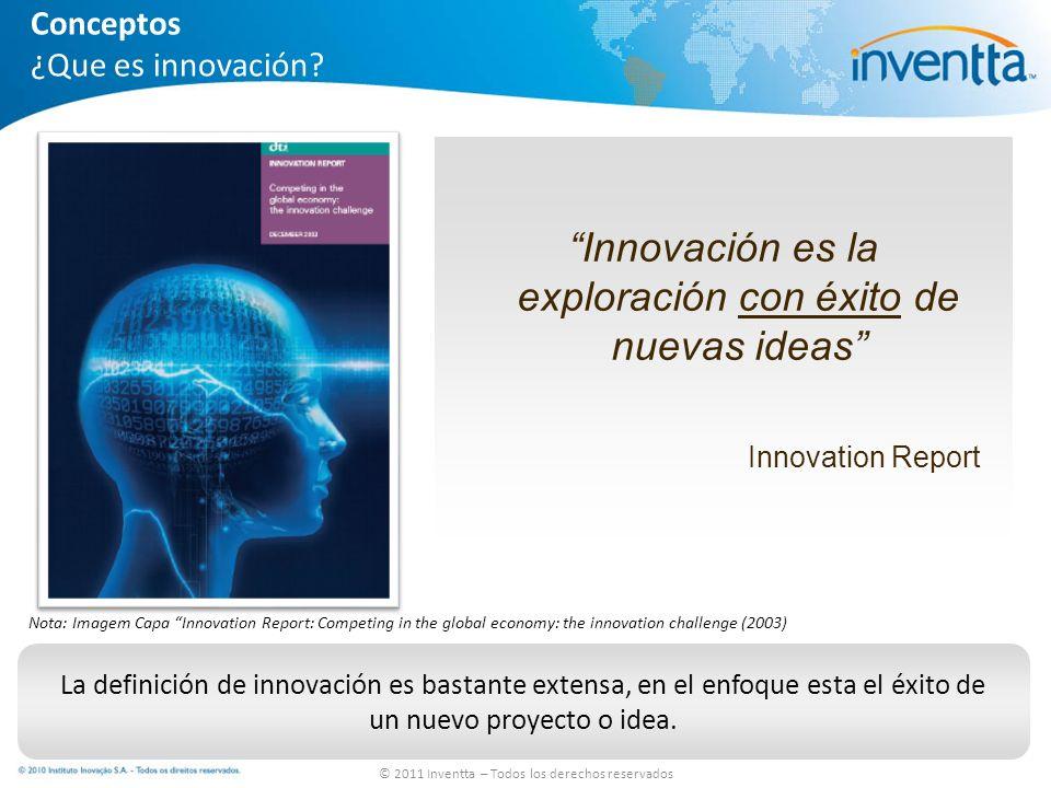 Innovación es la exploración con éxito de nuevas ideas