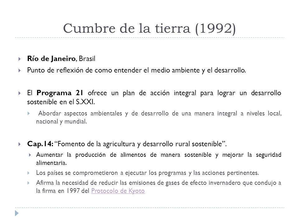 Cumbre de la tierra (1992) Río de Janeiro, Brasil