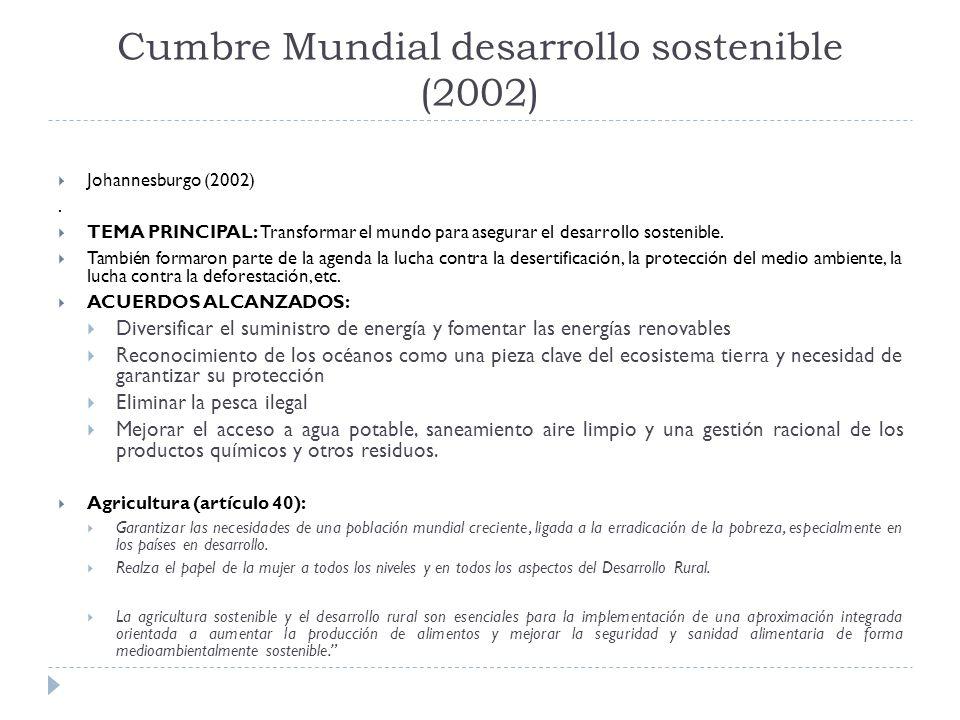 Cumbre Mundial desarrollo sostenible (2002)