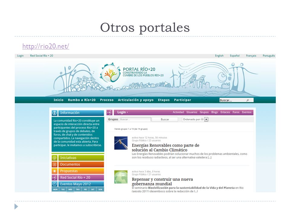 Otros portales http://rio20.net/