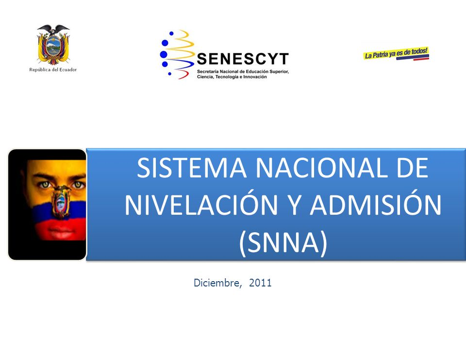 SISTEMA NACIONAL DE NIVELACIÓN Y ADMISIÓN (SNNA)