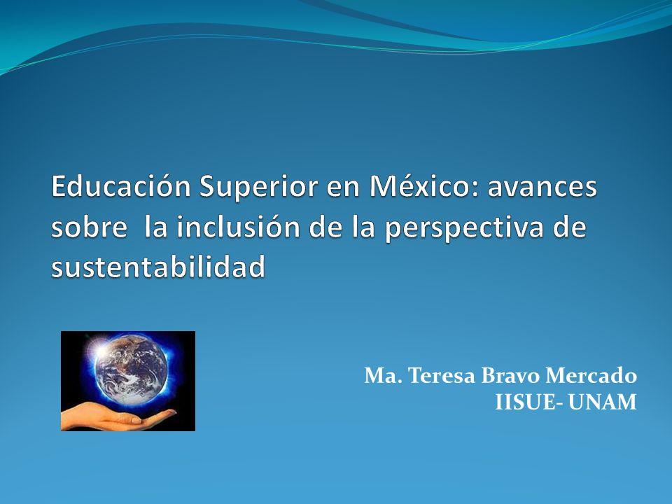 Ma. Teresa Bravo Mercado IISUE- UNAM