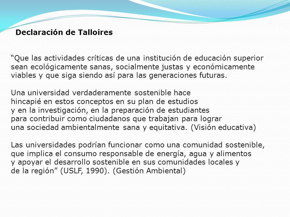 Declaración de Talloires