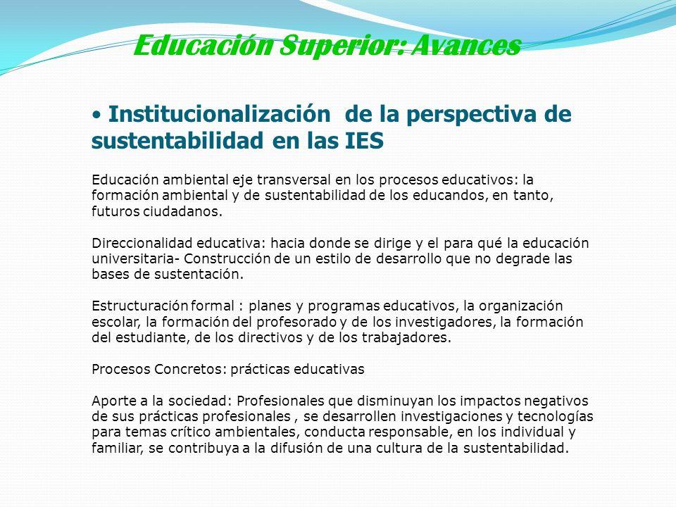 Educación Superior: Avances