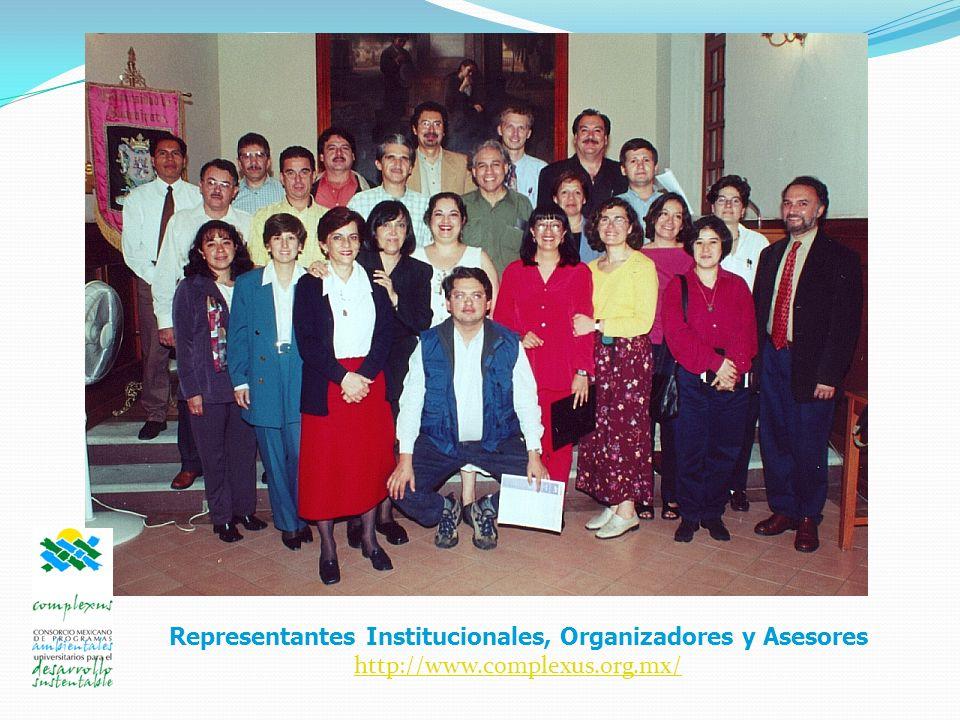 Representantes Institucionales, Organizadores y Asesores