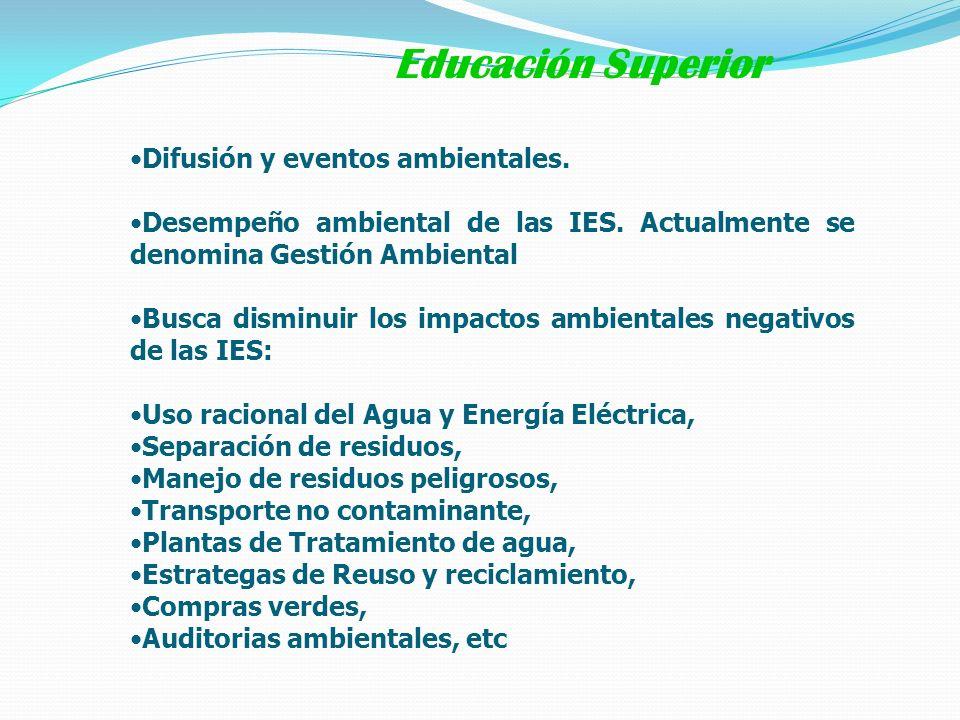 Educación Superior Difusión y eventos ambientales.