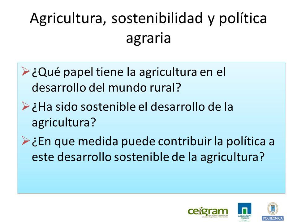 Agricultura, sostenibilidad y política agraria