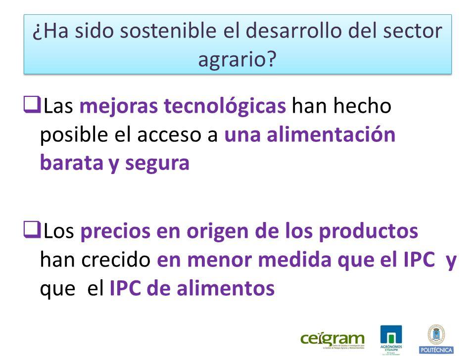 ¿Ha sido sostenible el desarrollo del sector agrario
