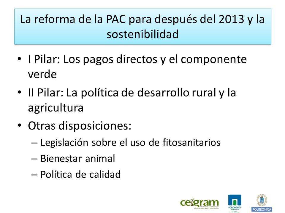 La reforma de la PAC para después del 2013 y la sostenibilidad