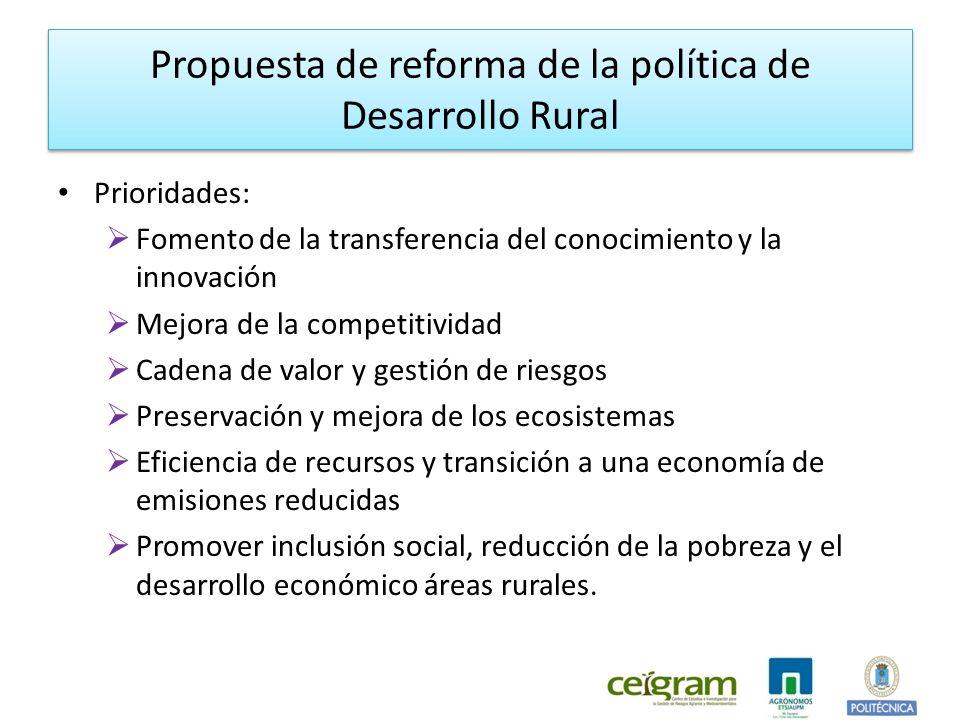 Propuesta de reforma de la política de Desarrollo Rural