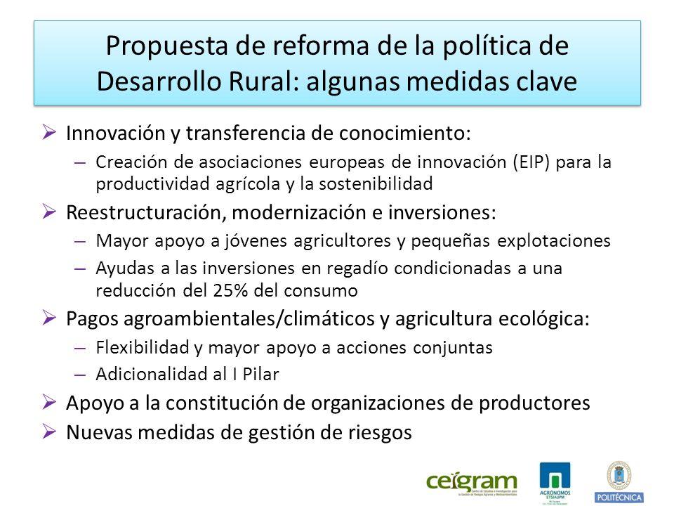 Propuesta de reforma de la política de Desarrollo Rural: algunas medidas clave