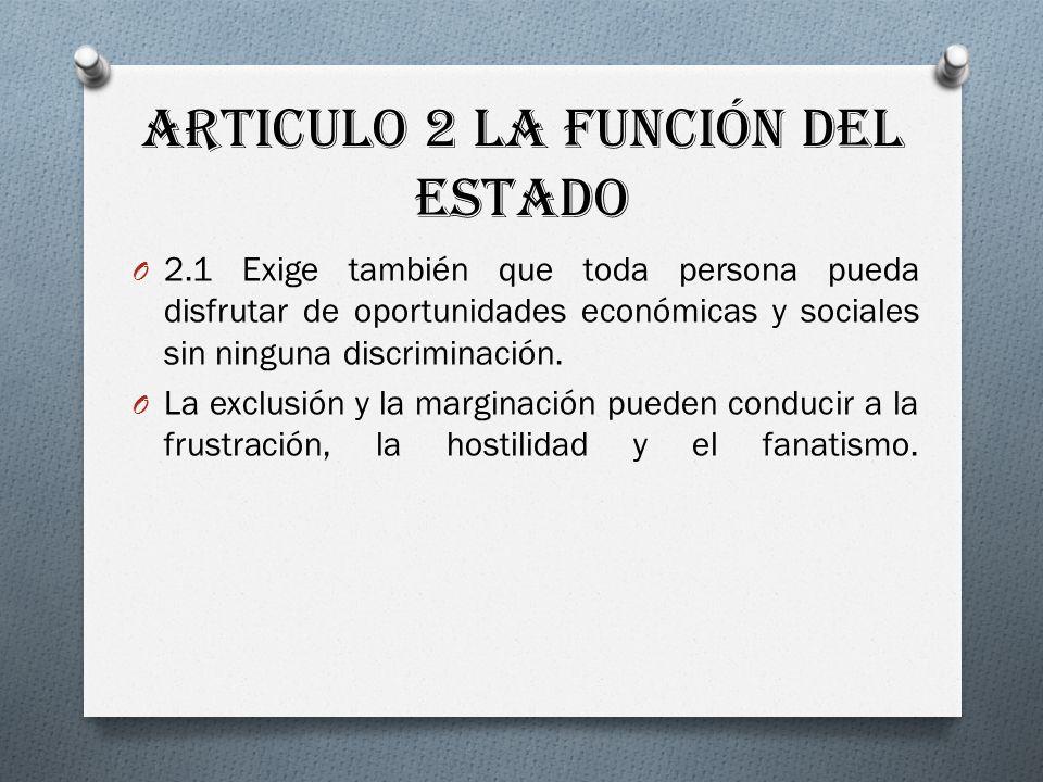 Articulo 2 La función del Estado
