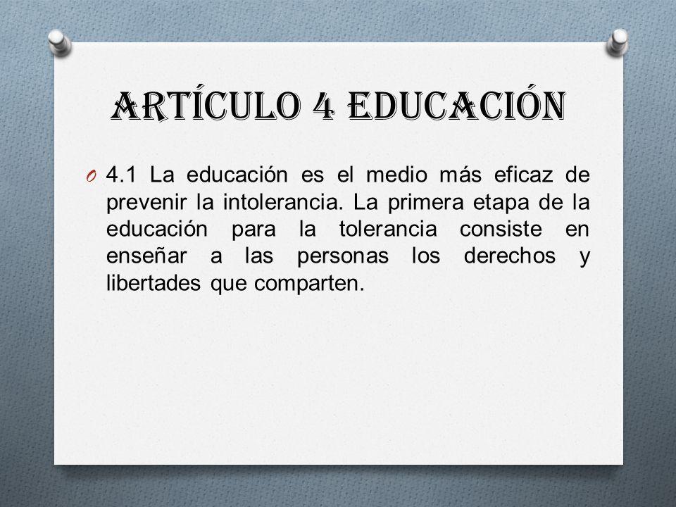 Artículo 4 Educación