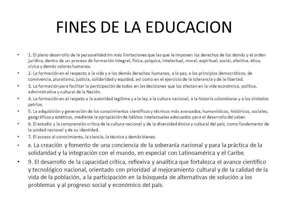 FINES DE LA EDUCACION