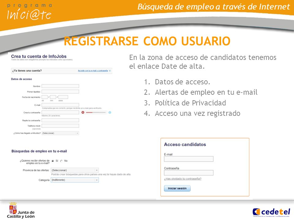REGISTRARSE COMO USUARIO