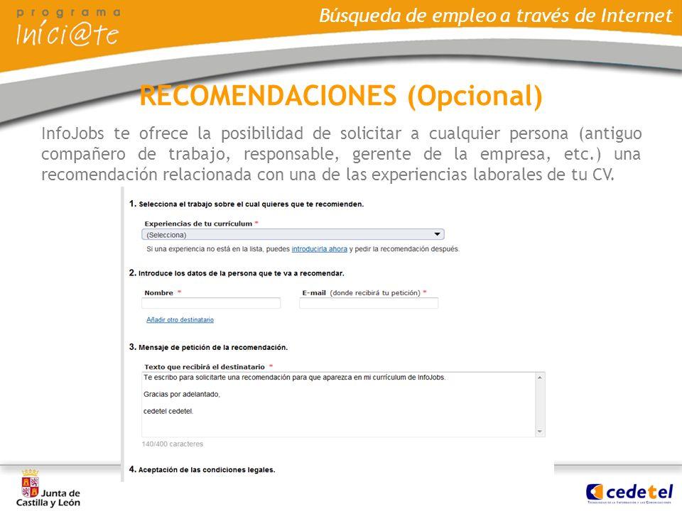 RECOMENDACIONES (Opcional)