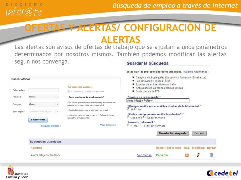 OFERTAS Y ALERTAS/ CONFIGURACIÓN DE ALERTAS