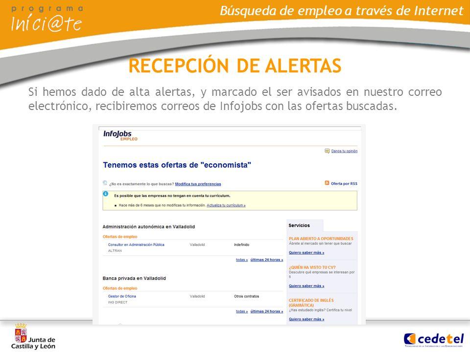 RECEPCIÓN DE ALERTAS