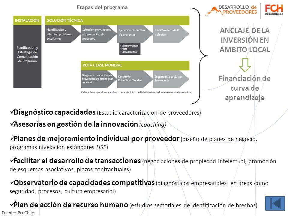 ANCLAJE DE LA INVERSIÓN EN ÁMBITO LOCAL