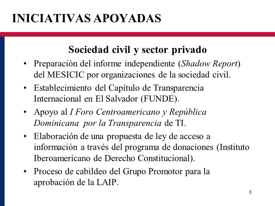Sociedad civil y sector privado