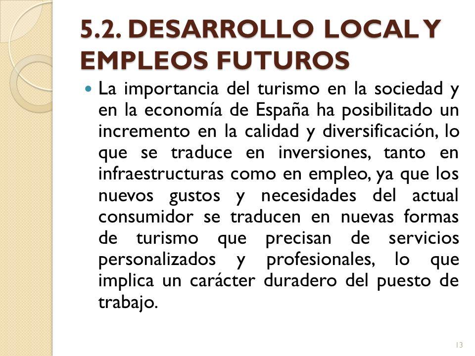 5.2. DESARROLLO LOCAL Y EMPLEOS FUTUROS