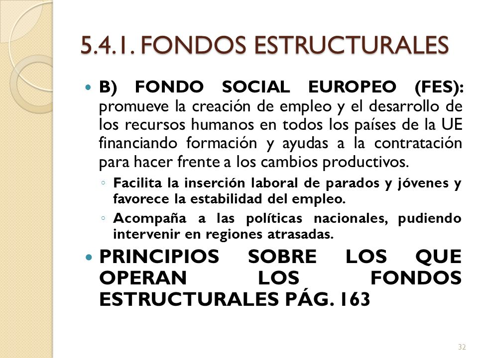 5.4.1. FONDOS ESTRUCTURALES
