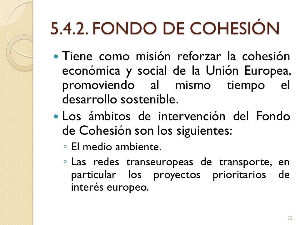 5.4.2. FONDO DE COHESIÓN
