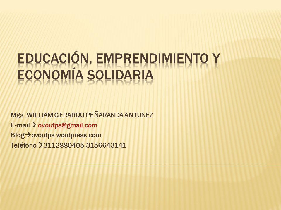 Educación, Emprendimiento y Economía Solidaria