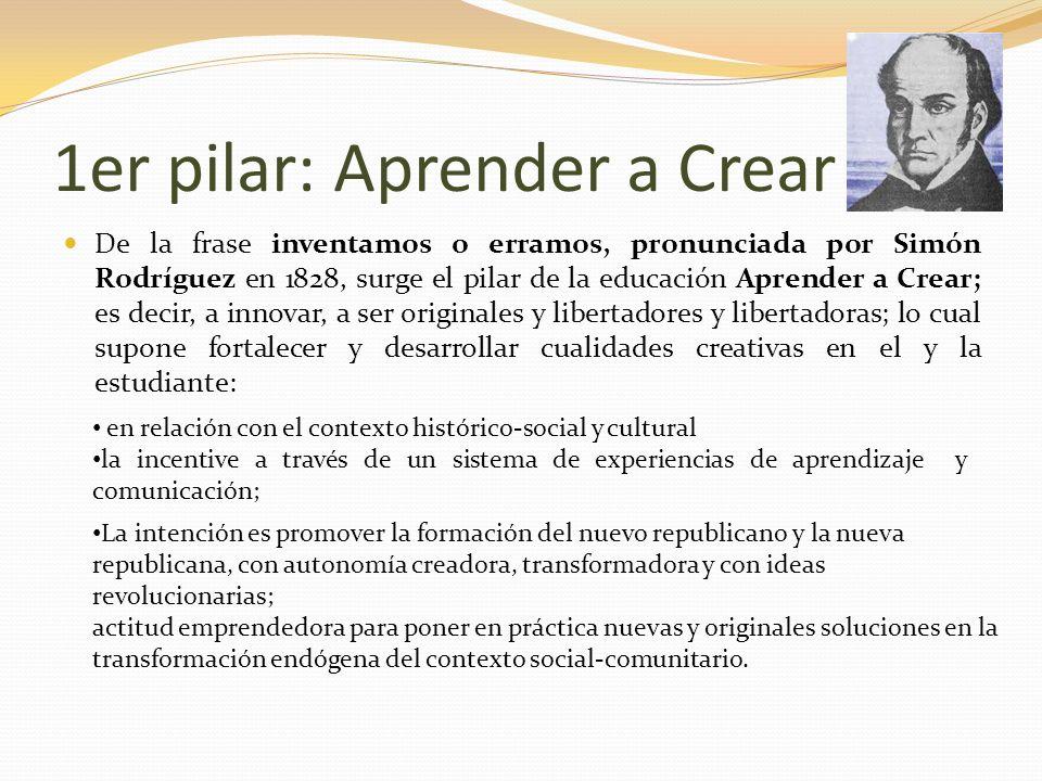 1er pilar: Aprender a Crear
