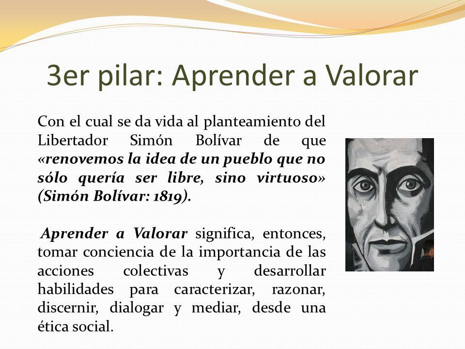 3er pilar: Aprender a Valorar