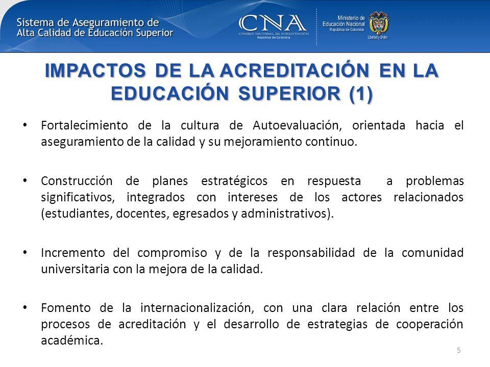 IMPACTOS DE LA ACREDITACIÓN EN LA EDUCACIÓN SUPERIOR (1)