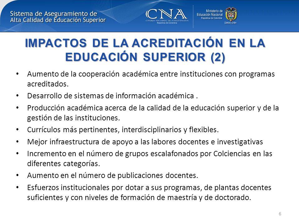 IMPACTOS DE LA ACREDITACIÓN EN LA EDUCACIÓN SUPERIOR (2)