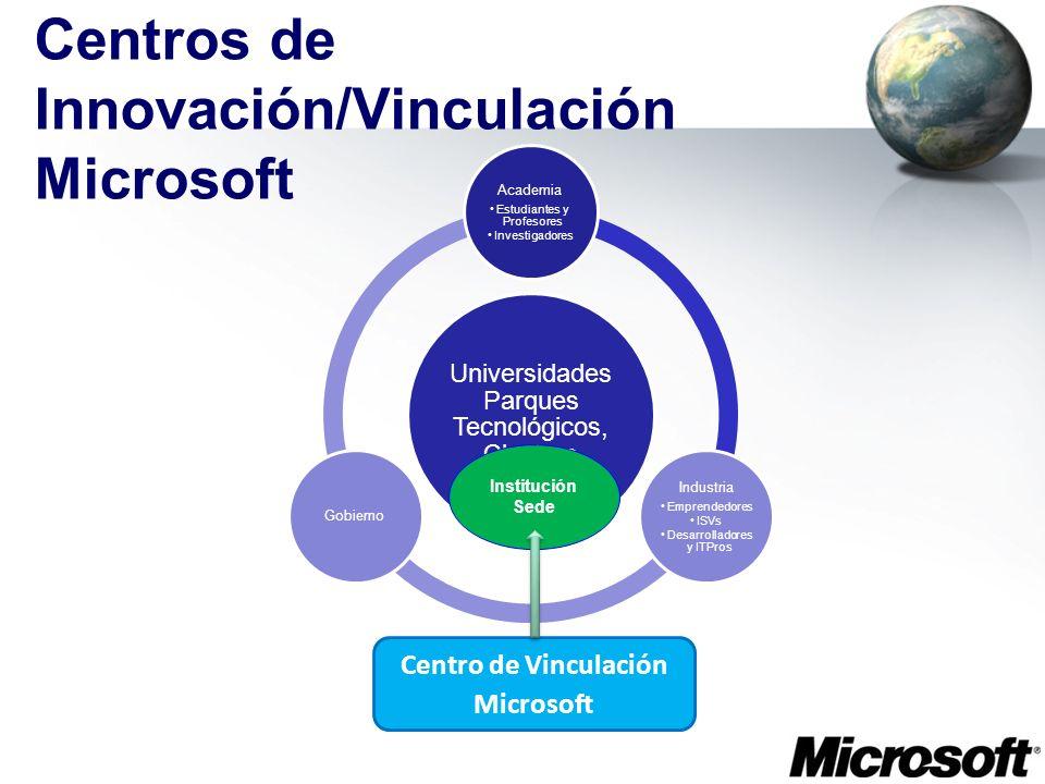Centros de Innovación/Vinculación Microsoft