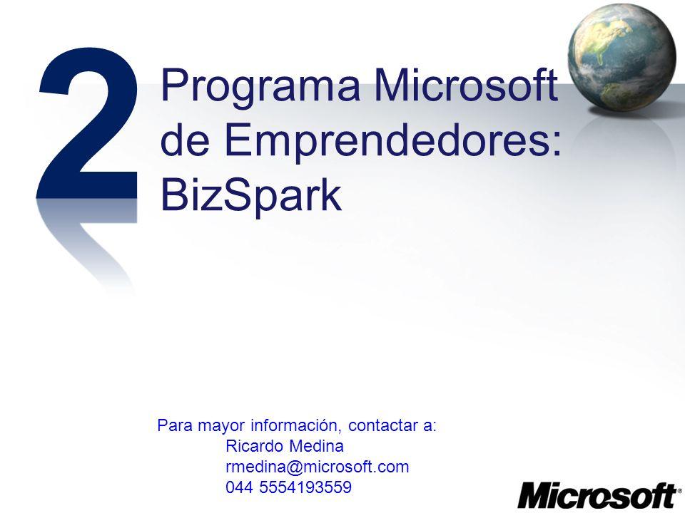 2 Programa Microsoft de Emprendedores: BizSpark
