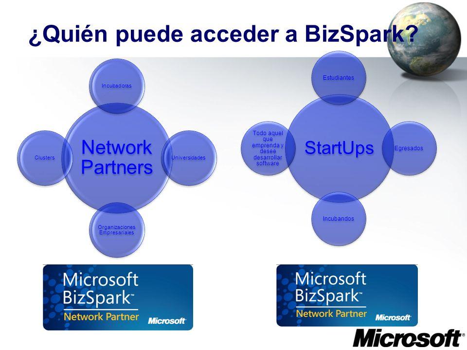 ¿Quién puede acceder a BizSpark