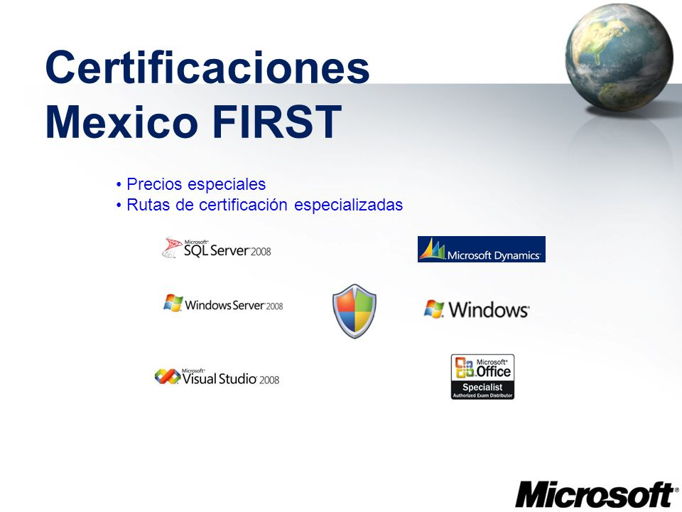 Certificaciones Mexico FIRST