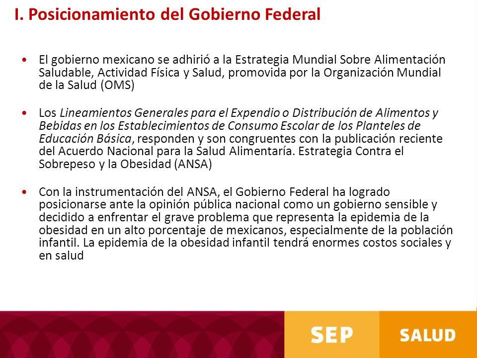 I. Posicionamiento del Gobierno Federal