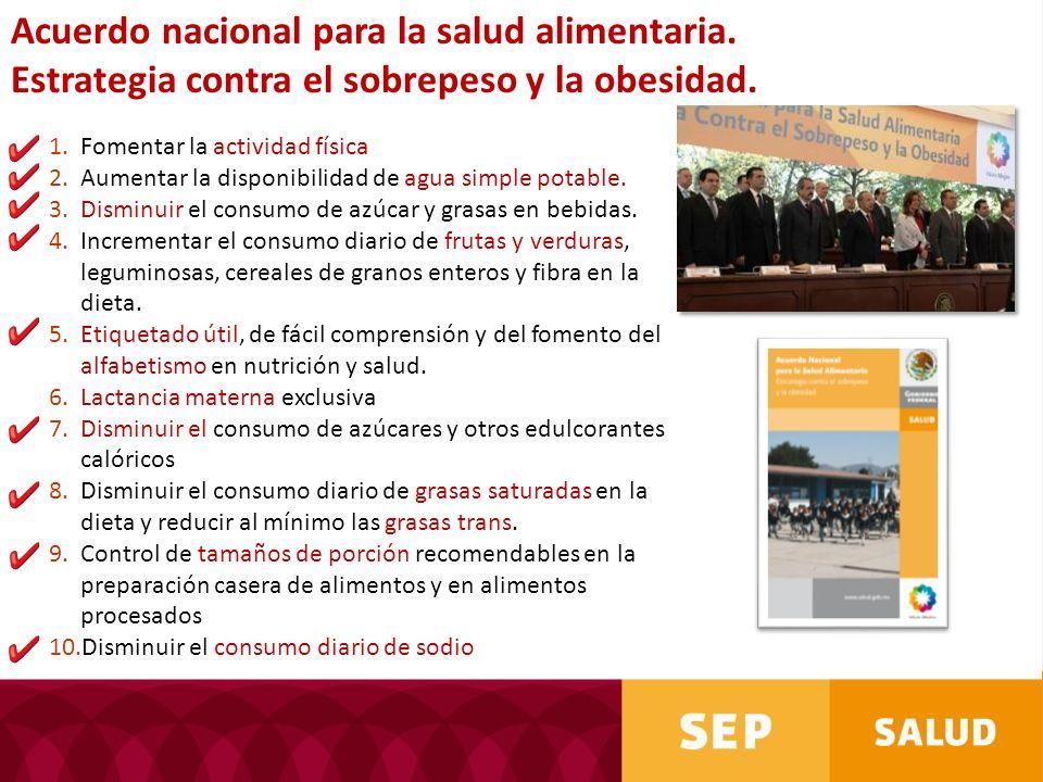 Acuerdo nacional para la salud alimentaria.